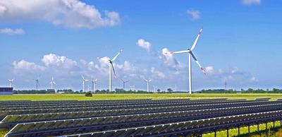 Foto Wind und Sonnenenergie-Erzeugung
