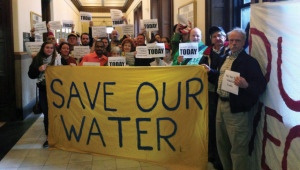 Demonstration gegen Wasserprivatisierung in St. Louis