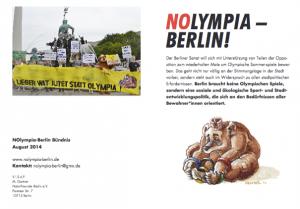 NOlympia-Bündnisflyer