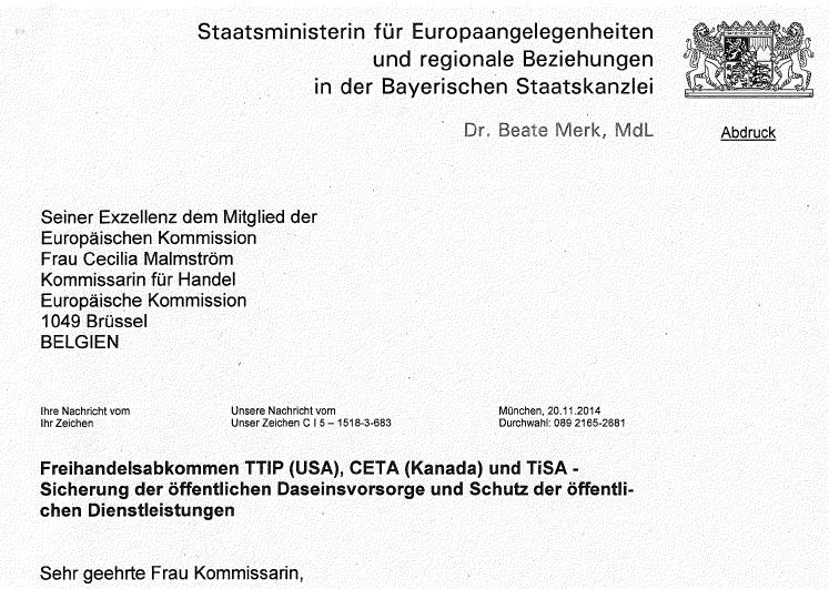 Brief an Malmström