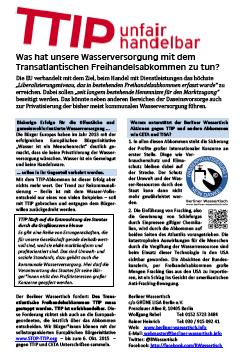 Flyer Berliner Wassertisch (2015)