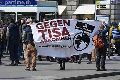 Banner gegen TISA
